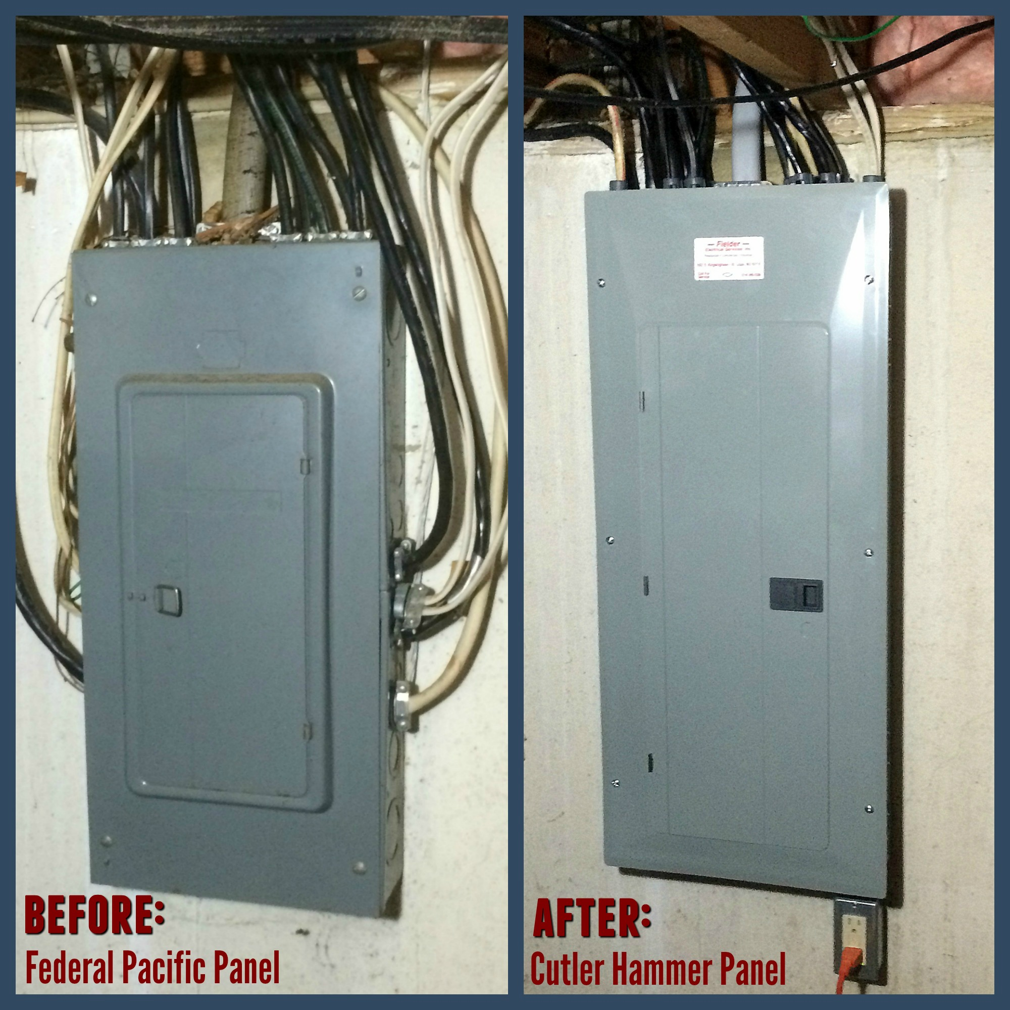 electrical panel upgrade. Our electrician replaced this 100 amp ...