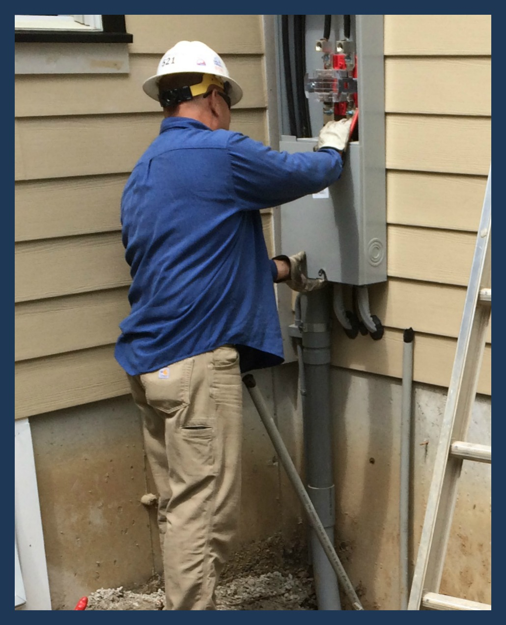 fielder electric meter install
