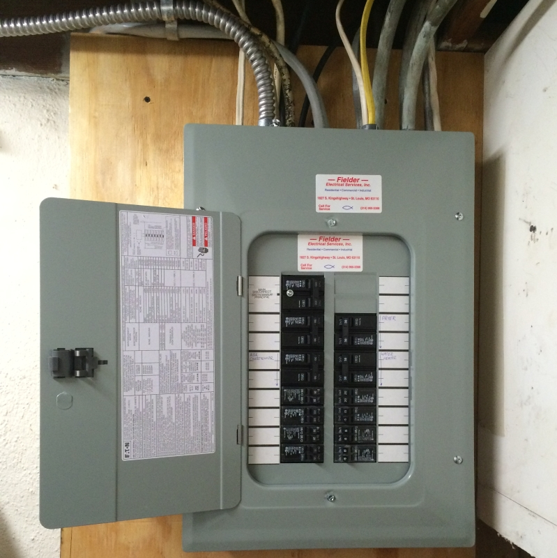 07 Interior of New Electrical Panel - Fielder Electrical Services, Inc.