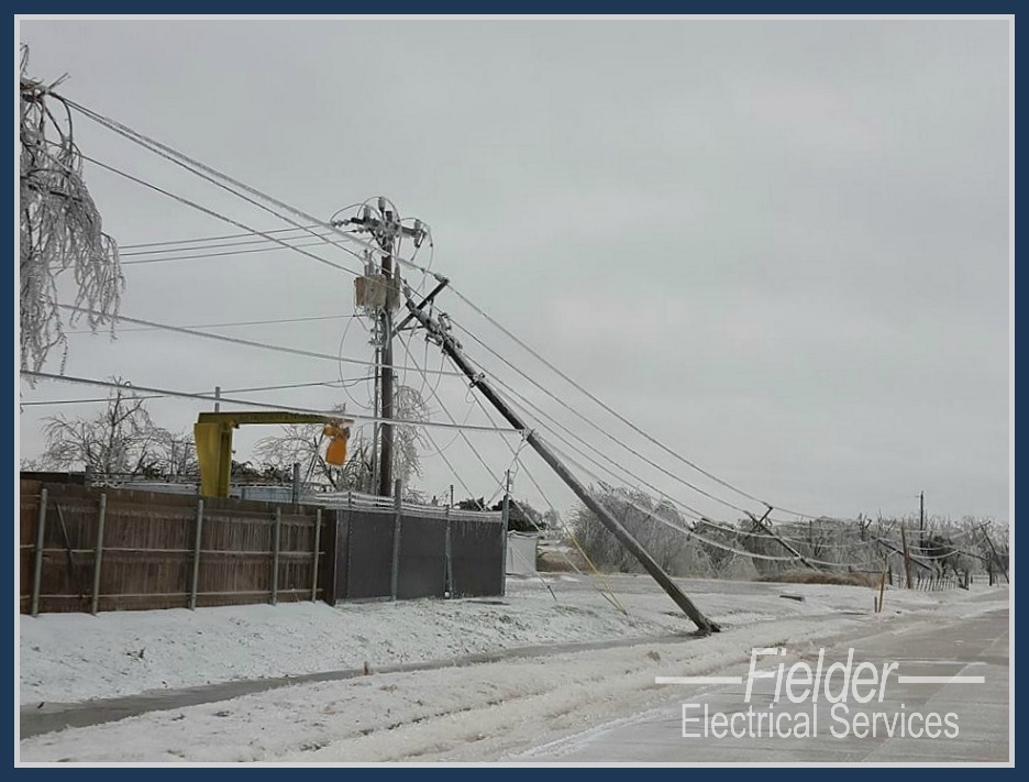 ice storm damage to electrical service