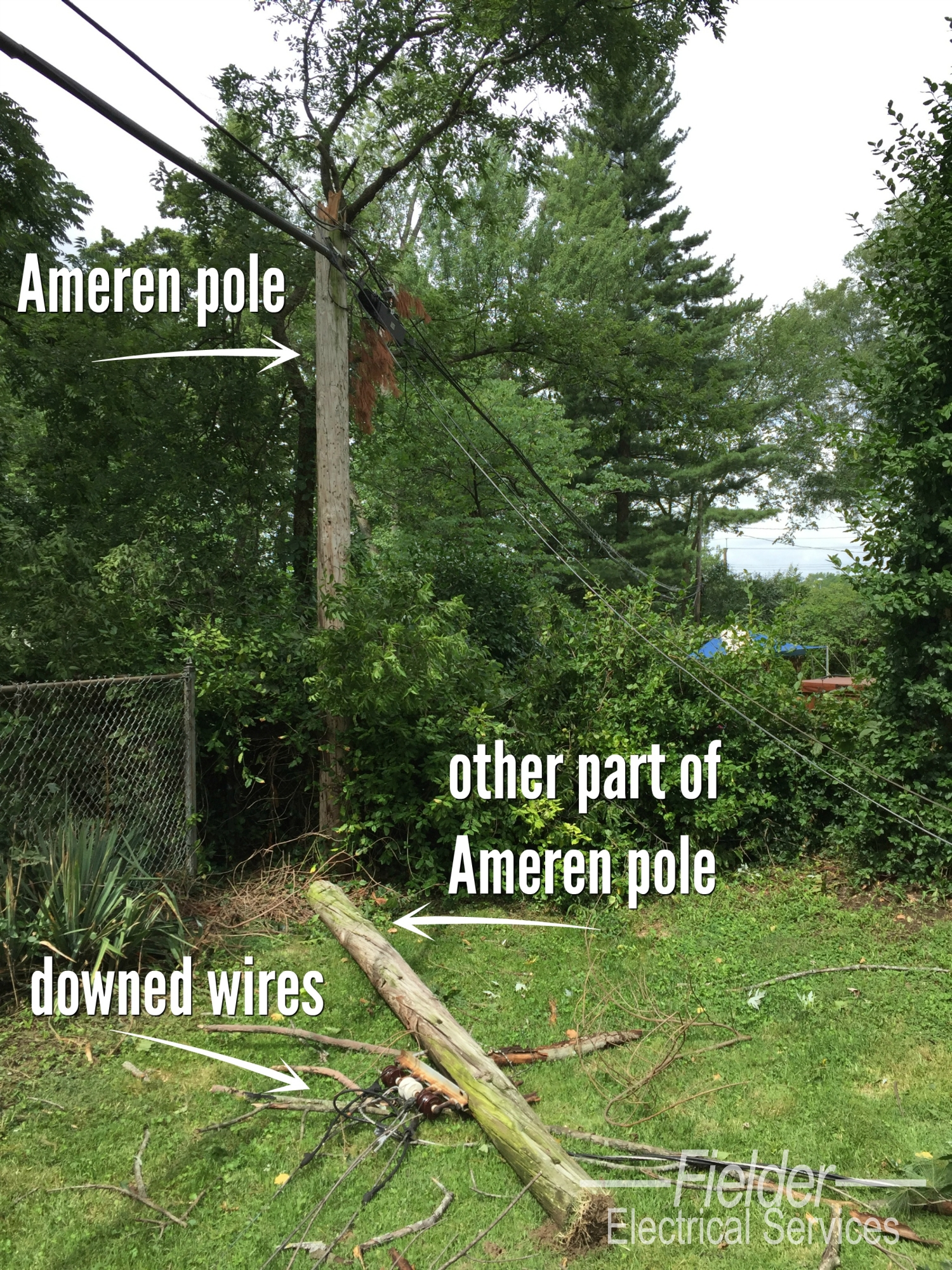Amerenue Electric Meter Box Diagram Wiring Residential Electrical Repairs For Storm Damage Fielder Services A Amerens Lines Are