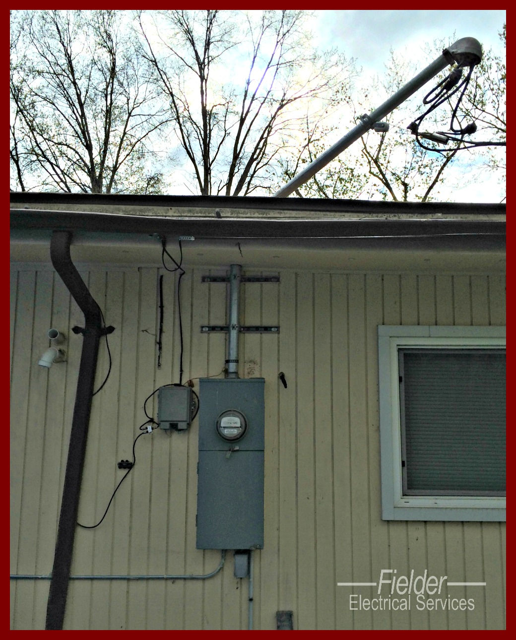 Electric Meter On House : Electrical repairs for storm damage fielder